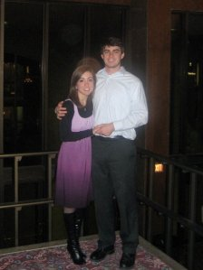 Ah, young love... picture from four years ago at The Nutracker