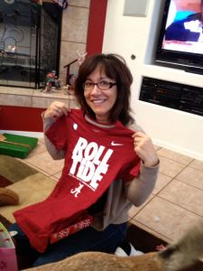 Mom with her Roll Tide shirt