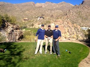 Chip, Alex and my dad out on the golf course