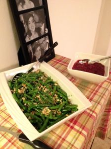 Green beans and cranberries