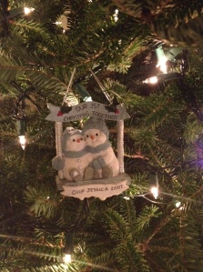 Our first ornament, a gift from Chip when we first started dating
