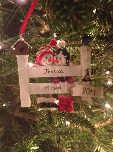 An ornament we received as a gift after we got married