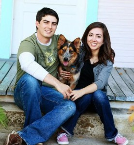 One of our engagement pictures with Wrigley