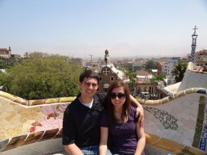 Visiting Park Guell, also designed by Gaudi