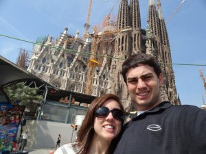Stepping out of the metro and standing right in front of La Sagrada Familia