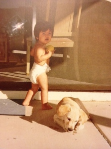With one of my first dogs, Canelo