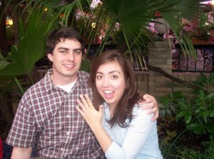 Oh, hey, we're engaged!