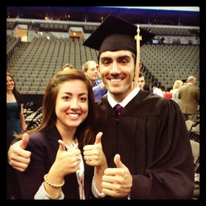 Two thumbs up for the college grad