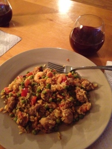 Paella and sangria