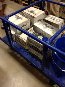 Cart full of tile