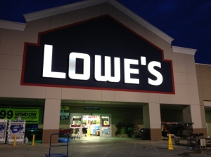 First customers at Lowe's