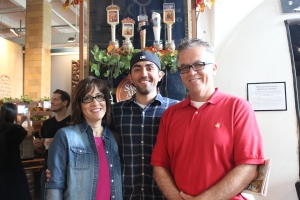 Alex and my parents at the brewery