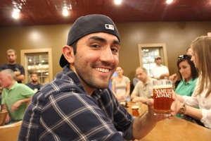 Second part of the tour: sampling three different kinds of Sam Adams