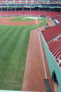 The field from the Green Monster