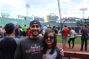 At Fenway during our family trip to Boston