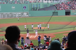 Throwing the first pitch