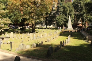 Across the street from our hotel was a really old cemetery where some of the founding fathers are buried