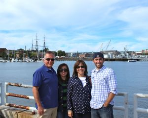 One last family picture in Boston