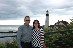 My parents at Cape Elizabeth