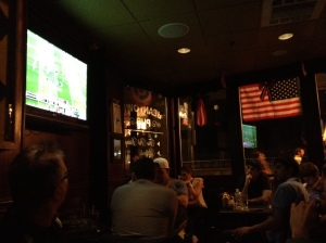 Watching the Patriots game at Beantown Pub