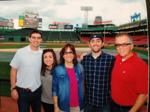 Running around Fenway was totally worth it for this picture