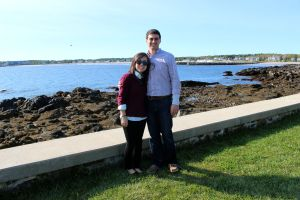 Enjoying the view in Kennebunkport