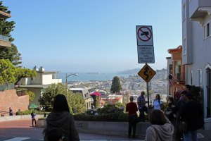 Driving past Lombard Street