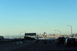 Driving back into San Francisco