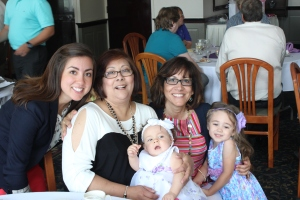 With my aunt, mom, Daniella, and goddaughter Isabella
