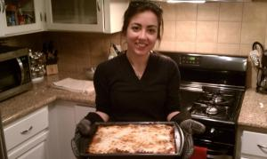 First time making homemade lasagna - December 2011