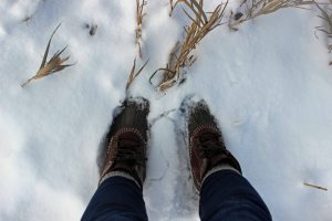 Put my duck boots to good use!