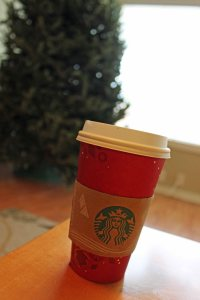 First Starbucks red cup of the year - perfect for decorating the tree