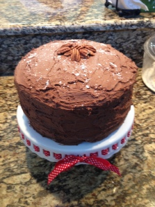 I also added a little bit of powdered sugar to the top of the cake along with the pecans for garnishing
