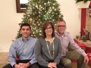 My brother, mom, and dad