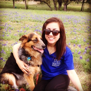 Enjoying the bluebonnets with the pup last week