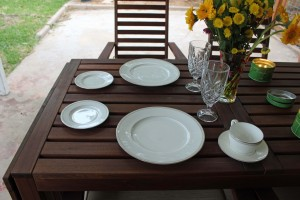 Was so surprised to see our patio table set like this!