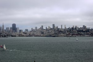 Our view of the city from Alcatraz