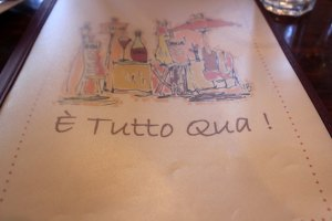 """E Tutto Qua"" - And that is all!"