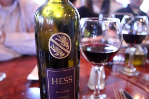 We would be visiting The Hess Collection during our time in Napa, so we decided to try their wine at dinner. Definitely some good wine!