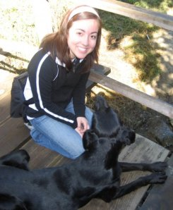 My dog friend at the botanical gardens in Vina del Mar