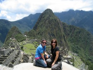 Machu PIcchu with mom