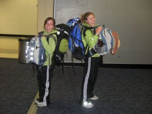 Caitlin and I in the Dallas airport after our flight from Chile