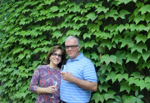 At the end of the winery tour