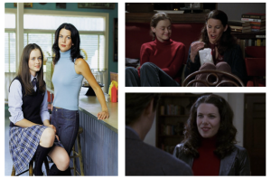 Please note the little silver clips in Lorelai's hair. That's 2001 class, right there.