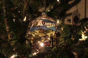 Our new ornament of the year from our trip to Napa in August