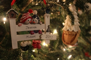 The ornament we received our first year as a married couple