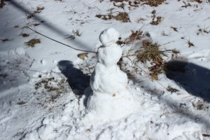 The little snowman Chip and my dad built