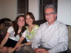 With my parents after Chip and I got engaged
