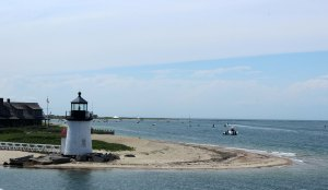 Sailing past Brant Point Lighthouse