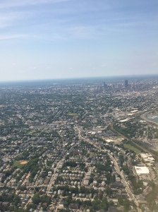 Flying into Boston